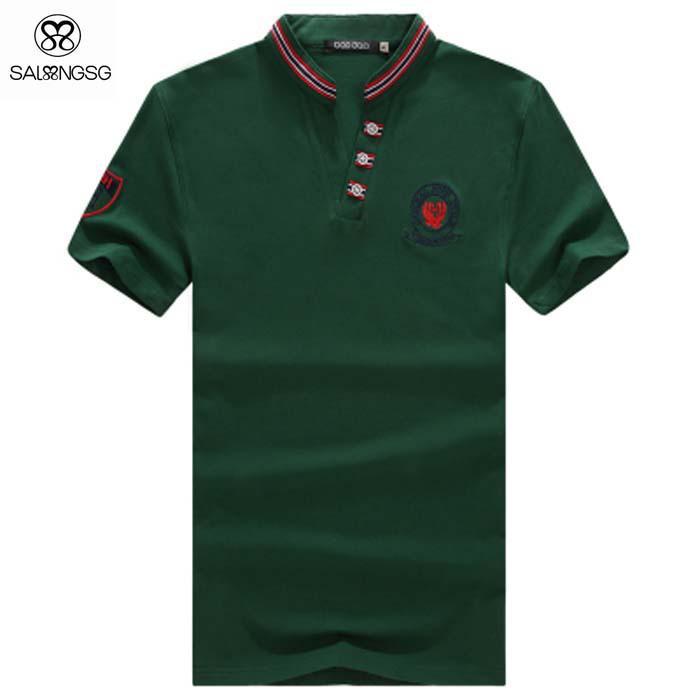 2017 wholesale fashion men brand polo shirts slim fit mens for Cheap branded polo shirts
