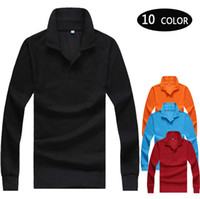 Wholesale New Cotton Sport Mens Polo Shirt Top Quality Man s Clothing long Sleeve Mens Tops POLO Men Shirt M XXXL