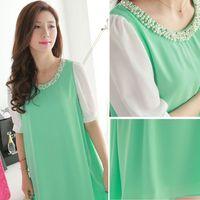 korean maternity dress - Korean Maternity Summer Dresses For Pregnant Women Sexy Dress Clothing Pregnancy Clothes Fashion