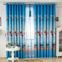 Wholesale Sale Real Cortinas Cortina Home Window Decoration Cartoon Children s Curtains for Winnie The Pooh Curtain Boy s Bedroom