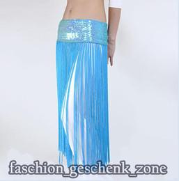 Wholesale tribal fringe Elasticity belly dance costume hip belt scarf Turquoise