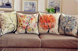 Wholesale B001 ikea decorative cushions home decor burlap trees sofa throw pillows cushion covers pillowcase almofadas decorativas cojines