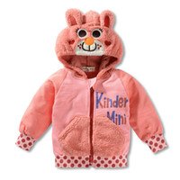 Others Unisex Spring / Autumn Wholesale-Free Shipping Hoody New Animal Despicable Sweatshirts Toddler Girls Boys Costume Zipper Hoodies Coat Aged 1-5years DM66