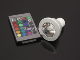 Venta al por mayor 3W E27-E14 GU10 RGB LED Downlight RGB AC85-265 de bulbo del LED con teledirigido 16 que cambia de color RGB LED Spotlight desde cambiar las bombillas downlight proveedores