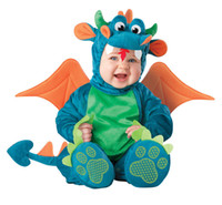 animal shapes infant - Triceratop Baby Infant Dragon Dinosaur Romper Kids Onesie Suit Animal Cosplay Shapes Costume Child autumn winter Clothing