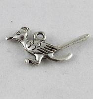 120PCS Tibetan Silver cute bird charm A9605
