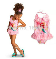 Wholesale in stock Newest Kids girl Swimwear Ariel swimsuit child cartoon beach sets girls monster high swimwear