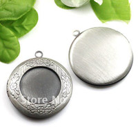 antique brass findings - Antique Silver Brass Picture Photo Frame Locket Pendant Diy Jewelry Metal Alloy Finding Setting