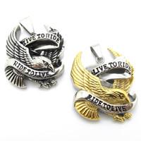 eagle pendant - Cool k Gold Silver Eagle Pendant L Stainless Steel Biker Biker Pendant