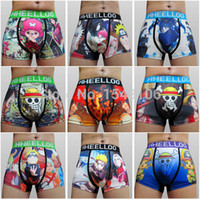 anime mens underwear - pc High Quality Japanese Anime One Piece Naruto Sexy Mens Micro Fiber Cotton underwear cuecas Boxers Fashion Men s shorts