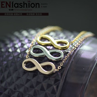 stainless steel collar - Fashion infinity necklace women collar necklace pendant K rose gold necklaces stainless steel necklace chain jewelry