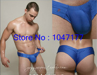 Wholesale mens penis pouch male anatomical large pouch underwear joe snyder Bulge Mini Cheek Shorts mens underwear