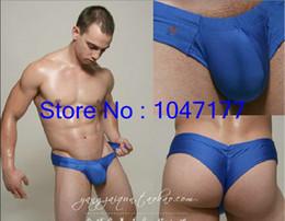 Wholesale mens penis pouch male anatomical large pouch underwear joe snyder Bulge Mini Cheek Shorts mens underwear