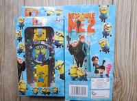 Wholesale Kids Cartoon Minions Watches With Boxes Children Despicable Me Wrist Watches