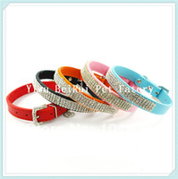 berry dog - MOQ Berry Real Leather Bling Jewels Small and Medium Dog Pet Collars