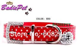 Wholesale MOQ6pcs Popular Polka Dots Dog Collar With Heart Bone Pendant Charm Colors amp Sizes available