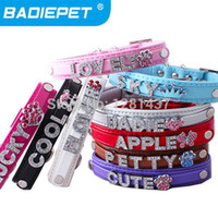 best leather pet collars - Special Offer Best Selling Top Quality Pu Leather Personalized DIY Name Dog Pet Collar Price exclude sliders