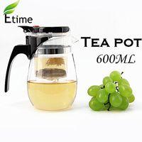 tea set - Teapot Promotion New ml Heat Resistan Glass Teapot simple tea kettle tea pot Convenient Office Tea Pot Set ETP001