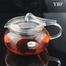 Wholesale ml Pressing Handle Pressure Pot Glass Teapots With Filter travel kung fu whistle tea yixing hello camping whistling kettle