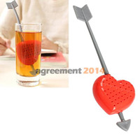 abs tea - Sweet Heart Shape Tea Infuser Teaspoon Spoon ABS Heat Resistance ARE4