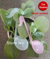 Cheap Wholesale-[Funlife Tea]-2pcs Excellent Functional Music Symbol Shape Tea Spoon Strainer Teaspoon Infuser Tea Filter Tools teasetBD002