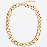 artilady - Artilady hot sale k gold chunky chain necklace jewelry choker collar necklace women jewelry