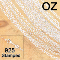 925 sterling silver necklace - Stock Fast quot Sterling Silver Jewelry Link Rolo Chains Necklace With Lobster Clasps Factory Price