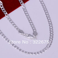 Wholesale HIGH QUALITY mm figaro chain men jewelry sterling silver chain man sterling chain factory price