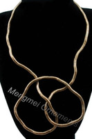 bendable necklaces jewelry - Min mix order Wear you like wear twisted necklace mm cm length bendable snake chain flexible twist jewelry necklaces