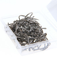 area box - Pack Iron Angling Fishing Sharpened Hooks Barb Tackles with Carry Box Black Silver Fit Freshwater Saltwater Area