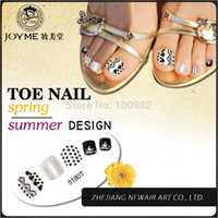 acrylic toe nails designs - Classical White and Black Design Toe Round Nail Tips Full Cover Acrylic UV Gel False Toe Tips Shiny Decoration