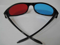 Wholesale 1Pair Red Cyan Blue D GLASSES Plastic for movie game