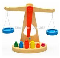 balance beams - Montessori Teaching Aids Wooden Scales Balance Beam Baby Children Educational Toy
