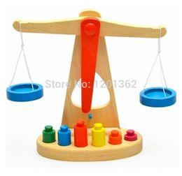 Wholesale Montessori Teaching Aids Wooden Scales Balance Beam Baby Children Educational Toy