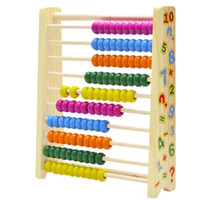 abacus teaching - Cute Chinese Vintage Kids Wooden Abacus Toys Math Learning Teaching Count Number Beads Tool Children Education Back Magnet Board