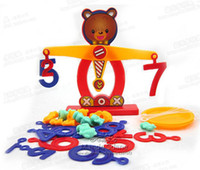 balance scale math - Educational Math Toys Bear Brains Balance Scales Toy Numbers Intelligence Baby Early Learning kids children toy