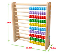 abacus teaching - Exempt postage wooden toys vertical calculation the abacus educational toys mathematics teaching AIDS children toys