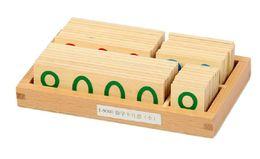 Wholesale New Montessori Mathematics Material MIni Wooden Number Cards Montessori Juguetes Educativos