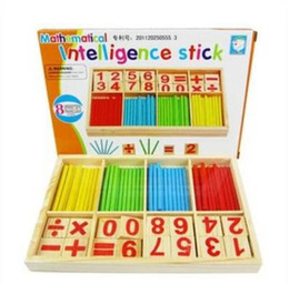 Wholesale Math game wooden toys for kids computation study box educational toys kindergarten school suppliers stick game