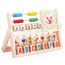Wholesale s retail Educational Calculation frame learning rack baby wooden educational multifunctional digital letter flap toy