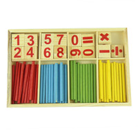 amazing education - Amazing for baby years Hot sale Wooden Mathematical Intelligence Stick Figures Box Baby Preschool Education Toys