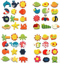 Wholesale Best selling Wood Baby educational toys magnetic stickers wooden fridge magnets baby toy pack packs