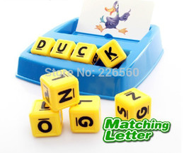 Wholesale-Free shipping 1Set Children Happy Toys Game  Match Letter Game  Educational Funny Toys  Best Gift for Kids