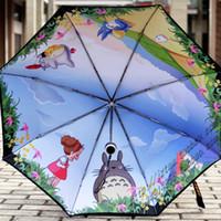 Wholesale Miyazaki Hayao Umbrella Totoro sun Umbrella Anti UV Umbrella