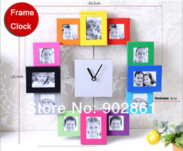 Wholesale funlife x25 cm x10in Wall Clock Photo Frame Fashion Color Paint Aluminum Home Design