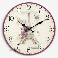 antique clock shop - Modern Design France Effiel Tower movement wall clock the setting room and coffee shop match W1011