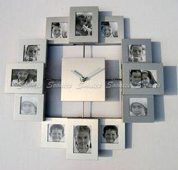 Wholesale Brand new sale Modern Family Home Multi Color Picture Photo Frame Quartz Wall Clock