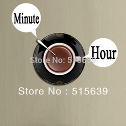 Wholesale New Coffee Time Wall Clock Creative Art Designs Unique Gift DIY Decoration Living Room Kitchen Hours Free Post