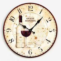 american kitchen design - Modern Design American rustic vintage wine bottle wall clock kitchen W1078