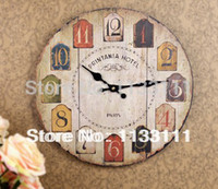 antique wood tables - Home Decoration New Arrival Mural like Simplicity Crafts Rural Simple Wood Wall Clock Hanging Table Home Goods A90